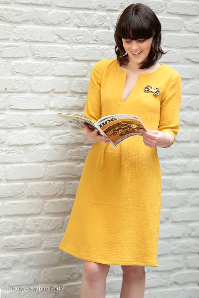photo mode magazine robe jaune