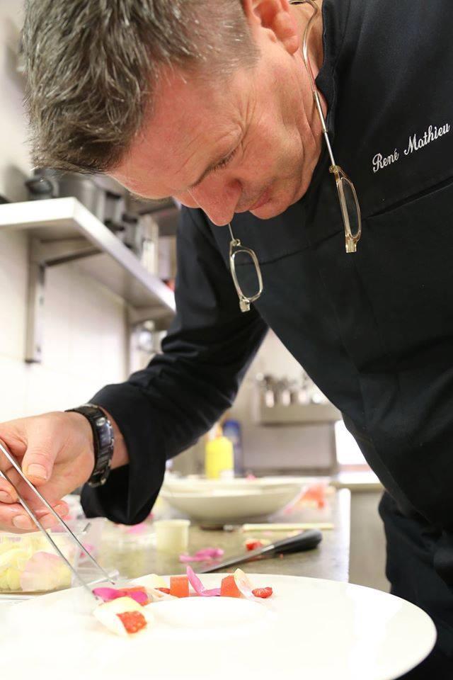 René mathieu chef à la Distillerie, meilleur restaurant végétal du monde !